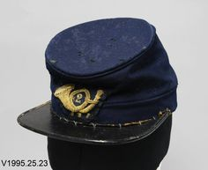 Union Officer's Forage cap worn by Colonel Lucius Fairchild, 2nd Wisconsin Volunteer Infantry on the morning of July 1, 1863 at Gettysburg.