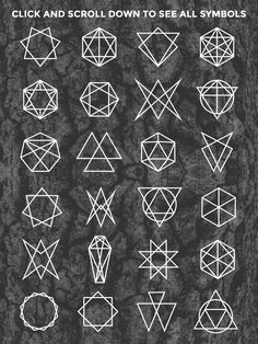 24 Occult Symbols Plus 4 Free Photos by BlackLabel on creativemarket Occult Symbols, Magic Symbols, Symbols And Meanings, Occult Art, Sacred Geometry Symbols, Geometric Symbols, Geometric Logo, Geometric Shapes, Satanic Art