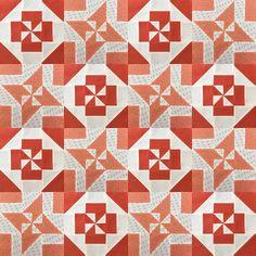 Block 10: Disappearing pinwheel quilt sampler - free pattern