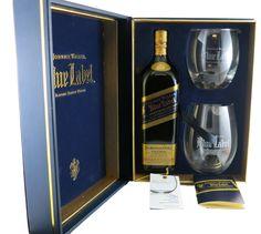 Scotch : Johnnie Walker Blue Label Limited Edition Gift Set Johnnie Walker Whisky, Bundaberg Rum, Johnny Walker Blue Label, Organic Wine, Brewing Equipment, Hooch, Scotch Whisky, Wine And Spirits, Wine Drinks