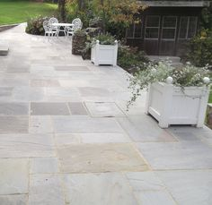 Natural Indian Sandstone In Grey Has Been Used To Transform The Back Garden  Of An Old · Patio StoneFlagstone ...