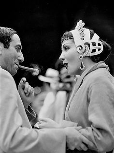 It's Claudette! with Ernst Lubitsch on the set of The Sign of the Cross
