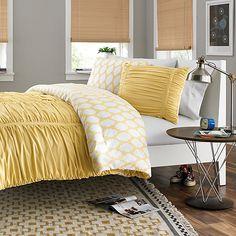 Reagan Reversible Comforter Set in Pale Banana, $49.99, Bed Bath & Beyond