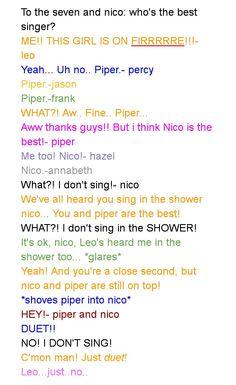 Just DUET nico!! Ha! Leo is so persassy!
