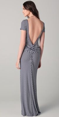 Love this! Backless maxi dress! Want to make it or buy it!