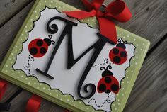 hung from artwork Ladybug Room, Ladybug Garden, Little Girl Rooms, My Little Girl, Garden Birthday, Adult Crafts, Projects For Kids, Hair Bows, Arts And Crafts