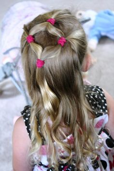 Simple girly hairstyle for school :)