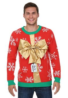 Fun Costumes mens Christmas Present Sweater Medium