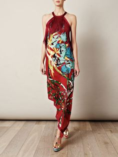 Piaf embroidered jungle print dress by Missoni