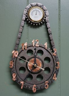 Clocks Made from Repurposed Materials