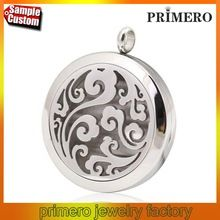 (30mm) Aromatherapy / Essential Oils surgical Stainless Steel Perfume Diffuser Locket Necklace