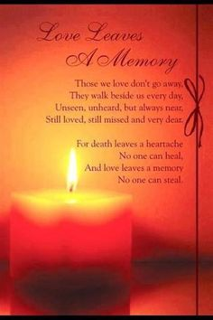 Love leaves a memory, in loving memory of aunt Pauline.  I love you with all my heart and will miss you.