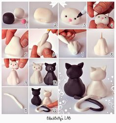 EAT MORE CAKE: Criações com pasta de açúcar - Gatos
