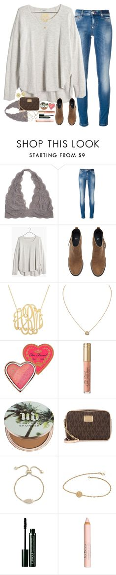 """fall set?¿?"" by sdyerrtx ❤ liked on Polyvore featuring Philipp Plein, Madewell, H&M, Cartier, Too Faced Cosmetics, Urban Decay, Michael Kors, Kendra Scott, Alison & Ivy and Clinique"