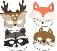 These cute critters are the talk of the forest! Dress in disguise as your favorite woodland animal - a fox, deer, raccoon, or squirrel - for make believe fun, or hang them on the wall as décor! Kit m