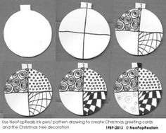 zentangle christmas step by step - Google Search