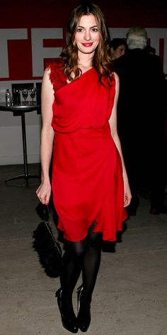Look of the Day - November 9, 2010 - Anne Hathaway from #InStyle