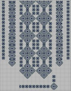 Beading _ Pattern - Motif / Earrings / Band ___ Square Sttich or Bead Loomwork ___ Blackwork Patterns, Blackwork Embroidery, Cross Stitch Embroidery, Beaded Embroidery, Loom Patterns, Beading Patterns, Embroidery Patterns, Cross Stitch Borders, Counted Cross Stitch Patterns