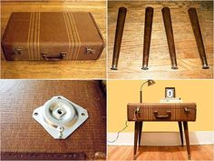 easy to do and in fashion right now.. find an old suitcase or two at the thrift store craft-ideas