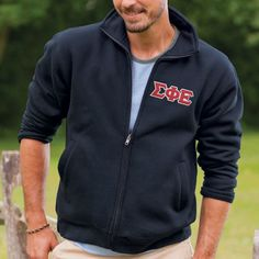 Campus Classics - Fraternity Navy Full Zip Sweatshirt With Sewn On Letters, $54.95 (http://www.campus-classics.com/fraternity-navy-full-zip-sweatshirt-with-sewn-on-letters/)