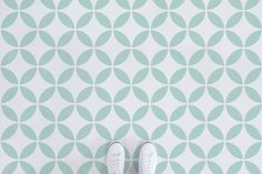Olympia circle pattern vinyl flooring