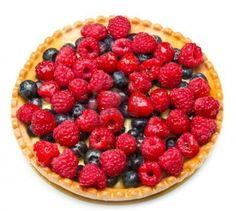Postres: Tarta de blueberries y frambuesas