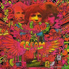"""CREAM"" 1960s British rock.Singer Jack Bruce, drummer Ginger Baker, and guitarist/singer Eric Clapton."