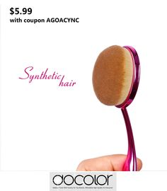 $5.99 with COUPON AGOACYNC, Docolor Rose Red Cosmetic Oval Makeup Brush Single - Get It Now: http://www.amazon.com/dp/B01EY0VP3W #Beauty #tools #Cosmetic #fashion #makeup ideas #Brushetta #Fashion style ulta sephora artis