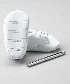 Take a look at this White Booties & Pen by Baby Deer on #zulily today!