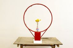 50s Basketball Hoop Made Industrial Home Decor by oldnewhouse, $210.00