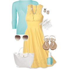 Love the pretty yellow dress.
