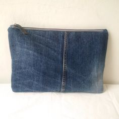 recycled denim jeans clutch bag large denim clutch by reloveduk