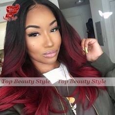 44.10$  Watch now - http://alii7x.worldwells.pw/go.php?t=32605587609 - 2016 Fashion Brazilian Hair Long Wave Wigs Synthetic Lace Front Wigs Red Ombre Color Heat Resistant Synthetic Hair Wigs 44.10$