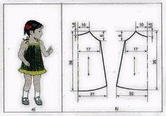 ¡Todo interesante - MO!!! Toddler Sewing Patterns, Baby Girl Dress Patterns, Sewing Kids Clothes, Sewing For Kids, Baby Patterns, Baby Frock Pattern, Baby Dress Design, Make Your Own Clothes, Baby Sewing Projects