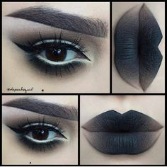 Gothic alternative ombre makeup