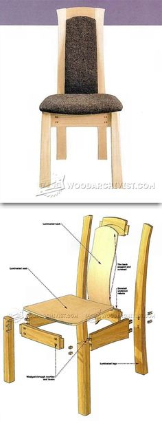 Laminated Dining Chair Plans - Furniture Plans and Projects | WoodArchivist.com