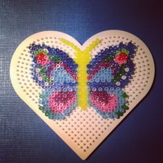 Butterfly hama perler beads by nat_doudouexpress