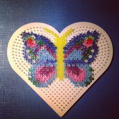 Butterfly hama perler  beads by nat_doudouexpress
