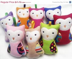 END OF YEAR Owls deeply discounted you pick boy, girl, or gender neutral we pick the Colors Made with fleece and Flannel baby shower or chi on Etsy, $6.20