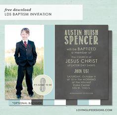 LDS Baptism Invitation Free Download