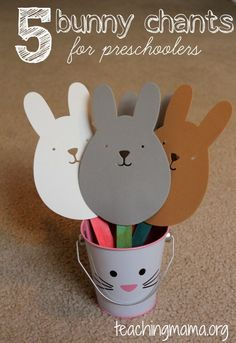 Teaching Mama: 5 Bunny Chants for Preschoolers. Pinned by SOS Inc. Resources @SOS Inc. Resources.