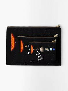 'Solar System Map' Zipper Pouch by Personal Product Designers Solar System Map, Zipper Pouch, Designers, Map Of Solar System