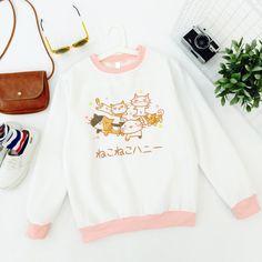 Harajuku cute cat loose sweatshirt · Cute Kawaii {harajuku fashion} · Online Store Powered by Storenvy