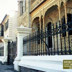 Stewart Cast Iron Fencing - Limited Stock on Full Height Railing and Half Height Railing. Victorian Fencing And Gates, Driveway Gate, Fence, Cast Iron, It Cast, Gate Post, Gardening, Usa, Collection