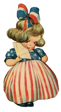 quenalbertini: Vintage Little Patriotic Girl, ClipArt Patriotic Images, Patriotic Crafts, Patriotic Decorations, July Crafts, Patriotic Posters, Holiday Decorations, Holiday Crafts, Holiday Ideas, Vintage Cards