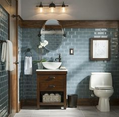 Bathroom wall tile and color palet