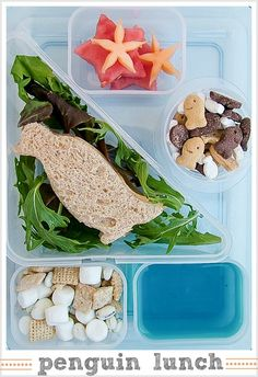 Back to School: Penguin Bento Box School Lunch