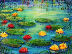 LILY POND by ARTBYTERESA.deviantart.com on @deviantART