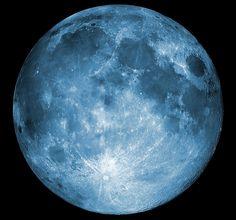 Luna Llena en azul...