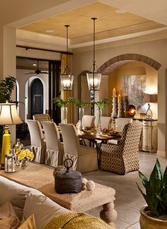 Just have a brick accent above the buffet in dining room
